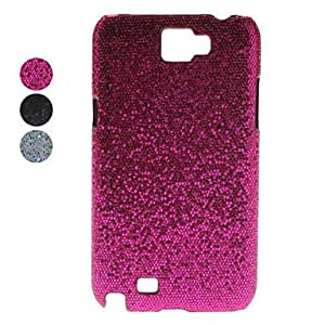 Flash Design Faux Leather Coated Hard Case for Samsung Galaxy Note 2 N7100 (Assorted Colors) --- COLOR:Black