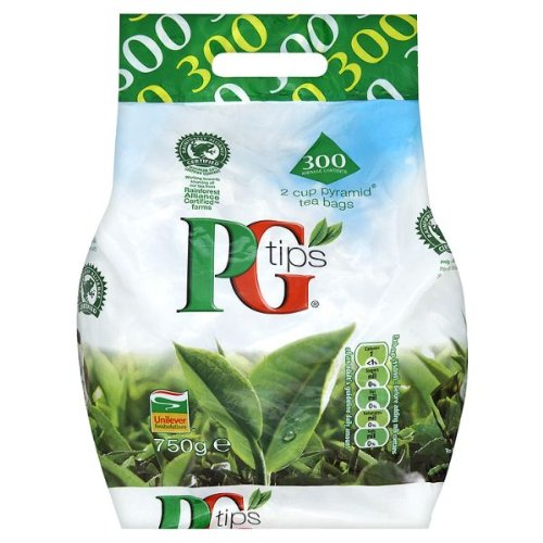 PG Tips 300 2 Cup Pyramid Tea Bags 750G - Pack Of 8 by PG Tips