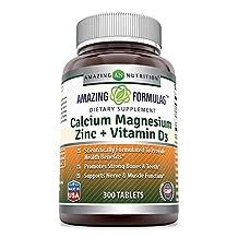 Amazing Formulas Calcium Magnesium Zinc + Vitamin D3