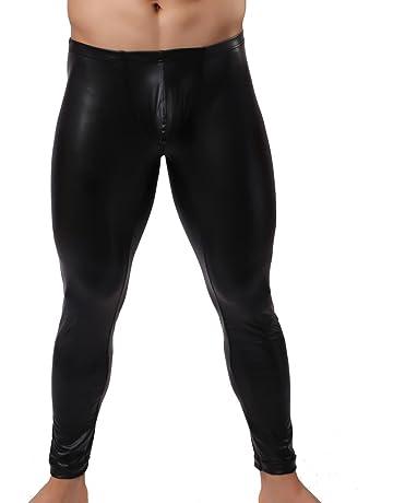 Legging Cuir Pu Homme Sexy Cool Pantalon Collant Erotique Club Danse Noir 9d0a70df0a5
