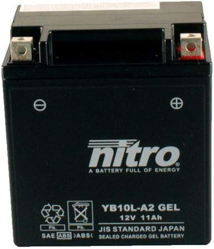 Batterie 12V 11AH YB10L-A2 Gel Nitro XV 250 S Virago Hochlenker VG012 00