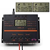 LCD 60A 12V 24VSolar Battery Regulator Charge Discharge Controller Solar System Controller With USB For Battery Charging