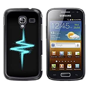"For Samsung Galaxy Ace 2 , S-type Pulso Heartbeat Eléctrico Vibe"" - Arte & diseño plástico duro Fundas Cover Cubre Hard Case Cover"