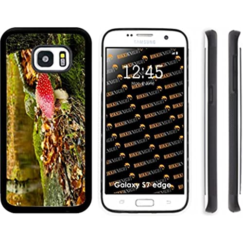 Rikki Knight Amanita Red Dotted Poisonous Mushroom Design Samsung Galaxy S7 Edge Case Cover (Black Rubber with Sales
