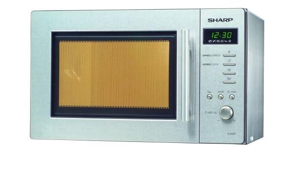 Sharp R-26ST - Microondas (22 L, 800 W, Plata, 27,2 cm, 12 kg, 319 ...