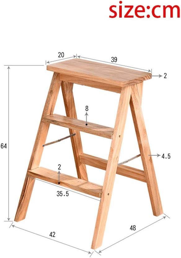 Taburete de escalera de madera maciza Taburete de peldaño casero Escalera de madera plegable multifuncional Taburete de cocina creativo multifuncional Escalera de tres escalones Escalera de madera mac: Amazon.es: Hogar