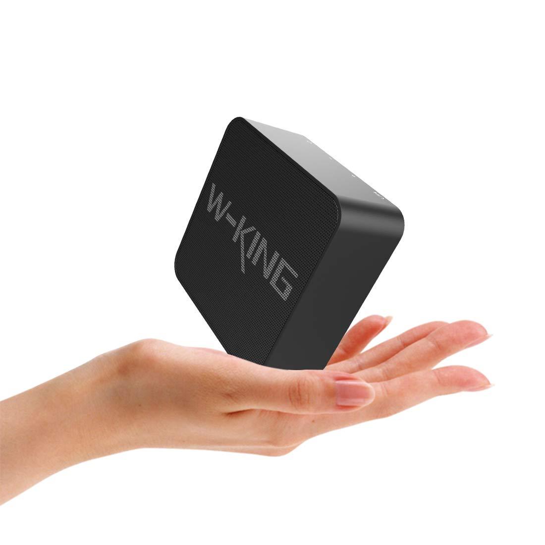 W-KING Bluetooth Lautsprecher, Wireless Tragbarer Bluetooth Lautsprecher mit Freisprechfunktion 10-Stunden Spielzeit Integriertes Mikrofon,10 Meter Bluetooth Reichweite, geeignet für Zuhause, Party ) Schwarz