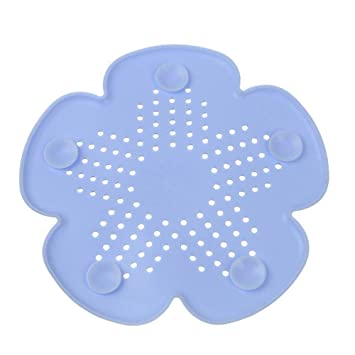 Drain Strainers Bathroom Sinks,faucets & Accessories New Cherry Blossom Sewer Drainage Filter Bathroom Sink Kitchen Plug Anti-blocking Sewage Covers Floor Covering Hair Filter Blue