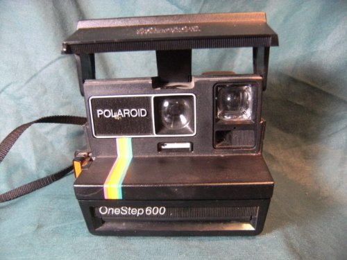 Polaroid OneStep 600 Instant Film Camera with Rainbow Stripe