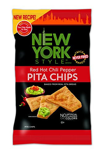 New York Style Pita Chips, Red Hot Chili Pepper, 8 Ounce (Pack of 12)