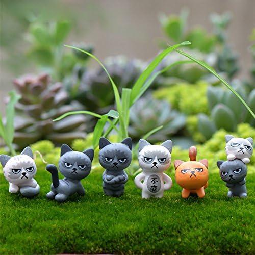 Ochoos - 1 Gato Enojado al Azar, Accesorios Decorativos para el hogar, Figuras Decorativas para el jardín: Amazon.es: Hogar