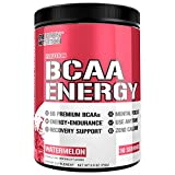 Evlution Nutrition BCAA Energy - High Performance Amino Acid Supplement for Anytime Energy, Muscle Building, Recovery and Endurance, Pre Workout, Post Workout (Watermelon, 30 Servings)