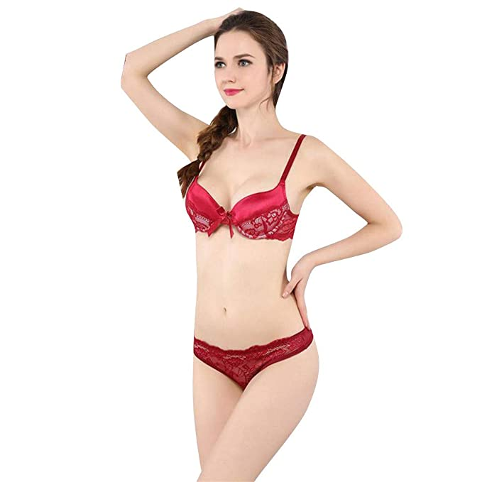 6d97de15239d Innerternet_Underwear de Mujer,Sexy Lujosa sección Delgada de Dos ...