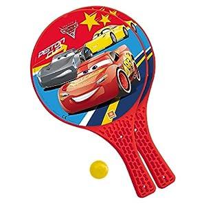 Mondo Toys - Disney Cars 3 -  2 Racchette in plastica / pallina di gomma - Gioco da Spiaggia per Bambini e Adulti -15023 11 spesavip