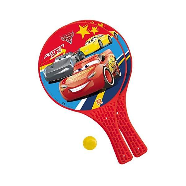 Mondo Toys - Disney Cars 3 - 2 Racchette in plastica / pallina di gomma - Gioco da Spiaggia per Bambini e Adulti -15023 1 spesavip