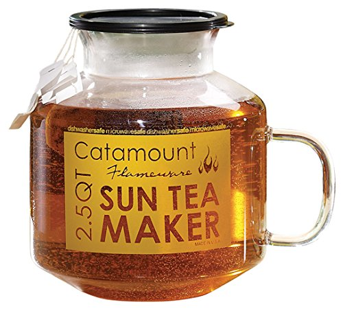 (Catamount Microwave Sun Tea Maker, Glass, 2.5 Quart, Dishwasher and Microwave Safe)