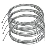 uxcell 4pcs 1.2mm Dia. 4M Length Lighting Light Suspension Cable Kit Hanging Chain