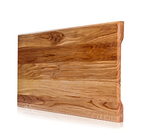 Wood Cutting Board. More Reliable than Bamboo Cutting Board and More Organic than Plastic Cutting Board. Size 18x 10x 4/5 in. Butcher Block Cutting Board. Perfect Cook's Gift. ()