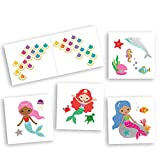 Mermaid Variety Set includes 25 assorted premium waterproof colorful metallic kids temporary foil under the sea inspired Fun Tats by Flash Tattoos, party favor