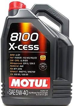 Motul 5 Liter 8100 X Cess 5w 40 Auto
