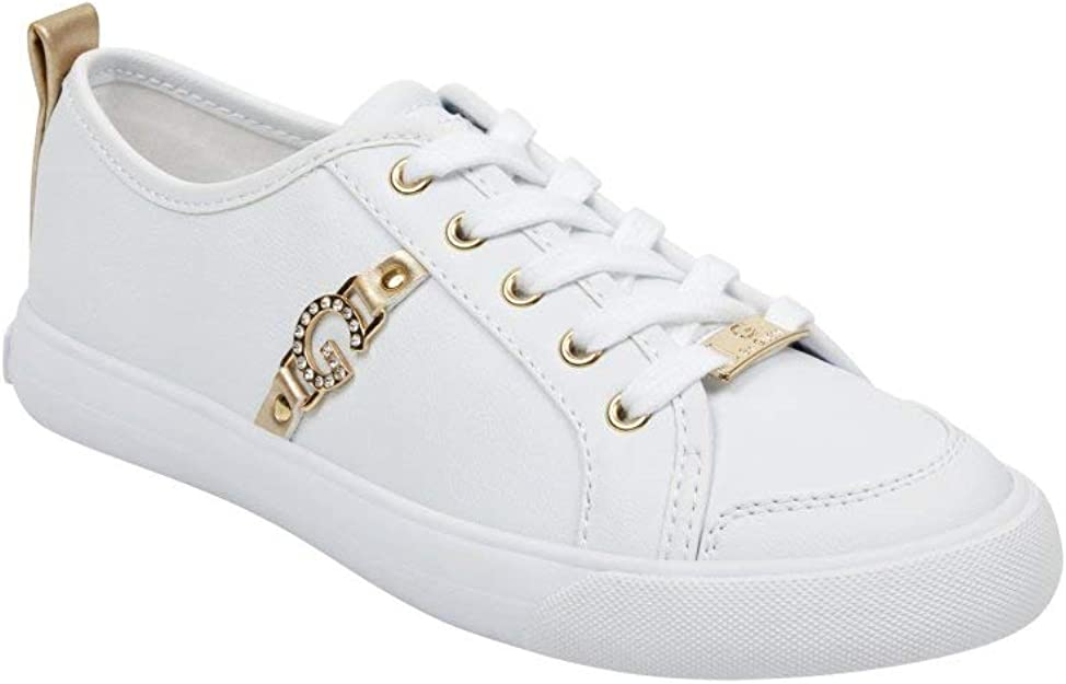 G By Guess Banx2 White/Gold/Gold 10