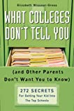 What Colleges Don't Tell You, Elizabeth Wissner-Gross, 1594630313