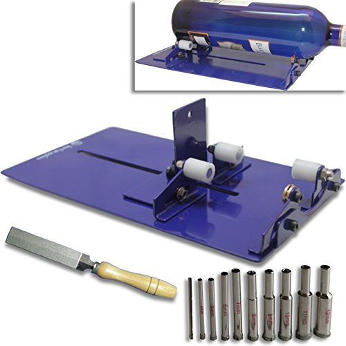 KENT All Purpose LONG Bottle Cutter Machine Set With Diamond File and Core Drill Bits