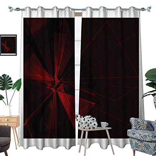 homehot Room Grommet Indoor Curtains rad Card W120 for sale  Delivered anywhere in Canada