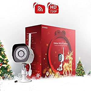 Zmodo 720p HD Wireless Outdoor Indoor Security Camera 65ft Night Vision {Holiday Present Wrap}