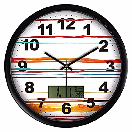 Amazon.com: Wall Clock WuuLii Decor-Creative Clock Stylish ... on