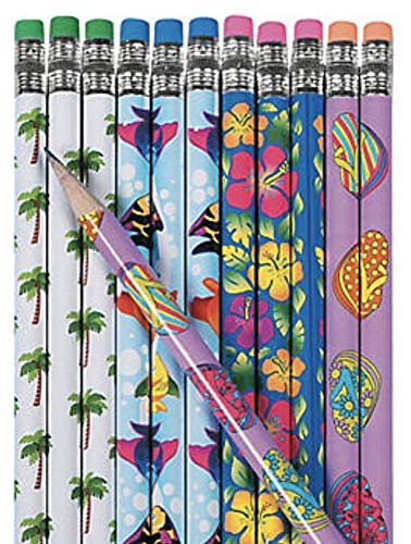 Nikkis Knick Knacks Luau Tropical Pencils and Erasers toyco