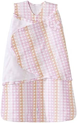 HALO 100% Cotton Sleepsack Swaddle Wearable Blanket, Floral Ombre, Small