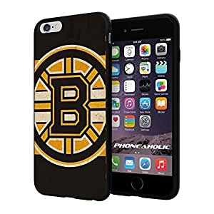 NHL HOCKEY Boston Bruins Logo, Cool iphone 5 5s Smartphone Case Cover Collector iphone TPU Rubber Case Black