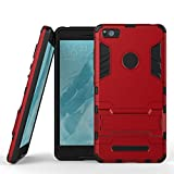 MOONCASE Xiaomi Mi 4i Case Detachable 2 in 1 Hybrid Armor Case Dual-Layer Shockproof Case Cover with Built-in Kickstand for Xiaomi Mi 4i M4i 4C Red