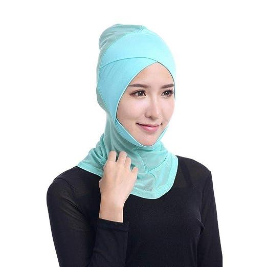 Amazon.com: Huojingli Womens Under Scarf Hat Cap Muslim ...
