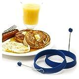 Norpro Silicone Round Pancake/Egg Rings, 2 Pieces