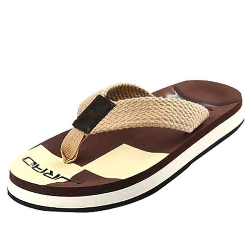 330360de3 CTOOO Las Chanclas Tejidas De Los Hombres El Verano El Fondo Antideslizante  Grueso  Amazon.es  Zapatos y complementos