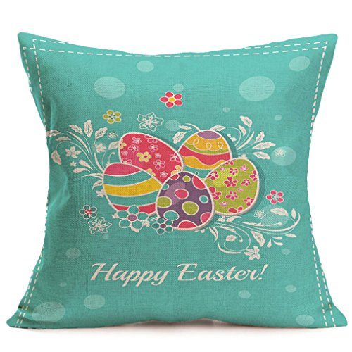 2017 Easter's Day Pillow Case,Elevin(TM)New Painting Square Cotton Cushion Cover Throw Waist Pillow Case Sofa Bedroom Home Decor Good Easter's Gift (M) (R) -