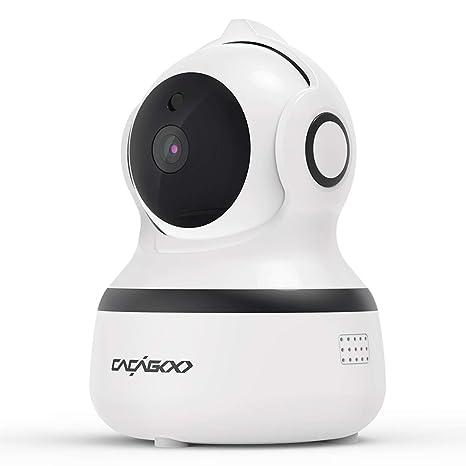CACAGOO1080P Cámara IP WiFi,Cámara de Vigilancia FHD con Visión Nocturna,Detección de MovimientoMonitor para Bebe/Perros, Audio de 2 Vías, 2.4GHz ...