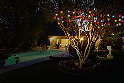 ideaworks outdoor solar string led lights multi