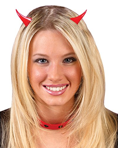 Sexy Blood Vampiress Adult Womens Costumes (Classic Devil Horns Clip On Easy Theatre Costumes Sizes: One Size)