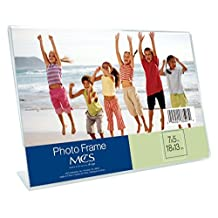 MCS Bent Acrylic Picture Frame 5 by 7-Inch, Horizontal by MCS