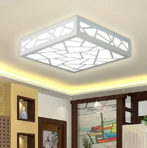 LightInTheBox Classic Creative Wood Carving Water Cube LED Ceiling Lights Fixture Flush Mount Lamp Bulb Included Light Source=White by LightInTheBox (Image #4)
