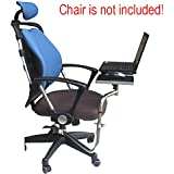 laptop chair with adjustable desk table stand for tablet or laptop adjustable. Black Bedroom Furniture Sets. Home Design Ideas