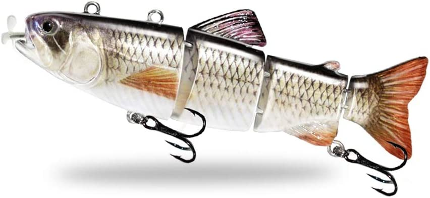 Animated Swimbait Swimming Robotic Segment Fishing Lure Details about  /Electric Live baits