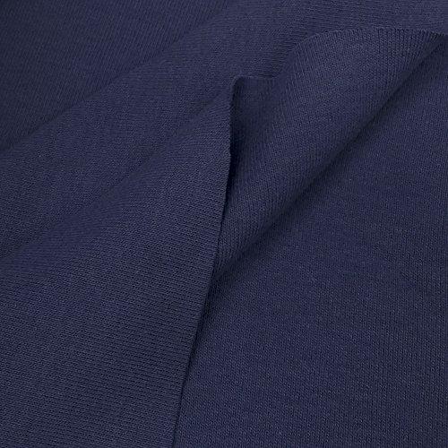 USA Made Premium Quality 100% Cotton 1x1 Rib Knit Fabric By The Yard - 1 Yard - Ink