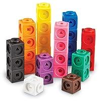 Recursos de aprendizaje Mathlink Cubes, juguetes educativos para contar, juego de 100 cubos