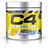 Cellucor C4 Original Pre Workout Powder Energy Drink w/ Creatine, Nitric Oxide & Beta Alanine, Icy Blue Razz, 30 Servings