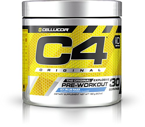 Cellucor, C4 Original Pre Workout Powder with Creatine, Nitric Oxide, Beta Alanine and Energy, G4v2, Icy Blue Razz, 30 Servings (New Formula)