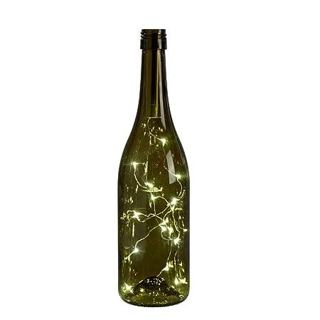 Sunsbell Botellas de Vino Cadena Micro Artificial tapón LED Sring ...